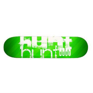 Hunt; Neon Green Stripes Skate Board Deck