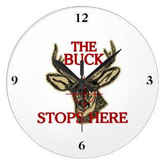 Hunt The Buck Stops Here Wall Clocks