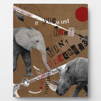 Hunt Wildlife Poachers Plaque