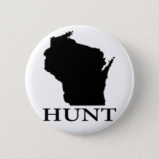 Hunt Wisconsin 6 Cm Round Badge