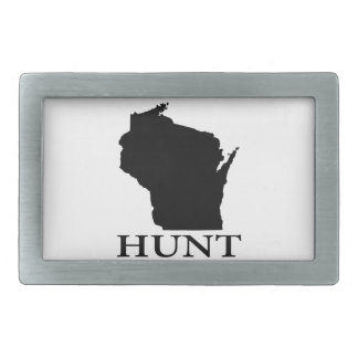 Hunt Wisconsin Belt Buckle