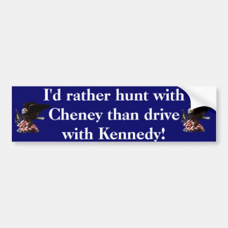 Hunt with Cheney Bumper Stickers