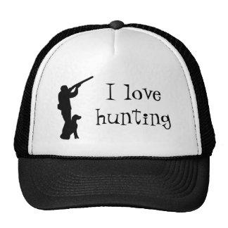 Hunter and dog, I like hunting Hat