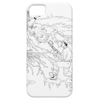 Hunter and Pheasant Ukiyo-e Barely There iPhone 5 Case