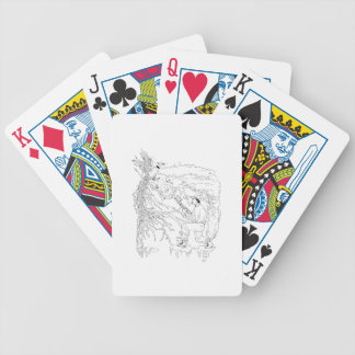Hunter and Pheasant Ukiyo-e Bicycle Playing Cards