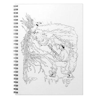 Hunter and Pheasant Ukiyo-e Notebook