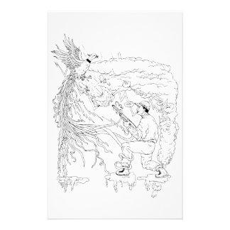 Hunter and Pheasant Ukiyo-e Stationery