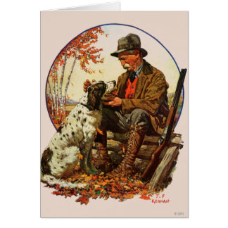 Hunter and Spaniel Card
