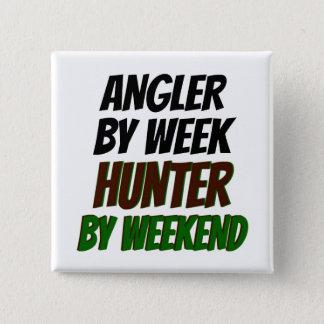 Hunter Angler 15 Cm Square Badge