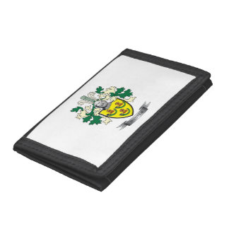 Hunter Family Crest Coat of Arms Tri-fold Wallets