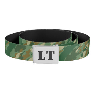 Hunter green army camo camouflage canvas belt