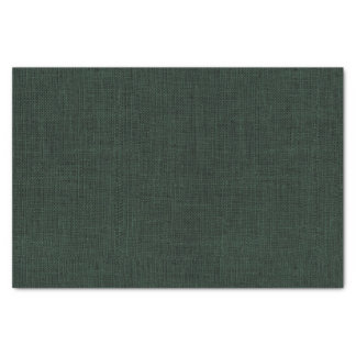 Hunter Green Burlap Texture Tissue Paper