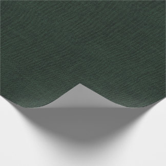 Hunter Green Burlap Texture Wrapping Paper