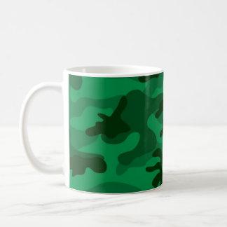 Hunter Green Camo, Camouflage Classic White Coffee Mug