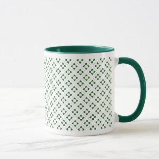 Hunter Green Lotus Square Mug