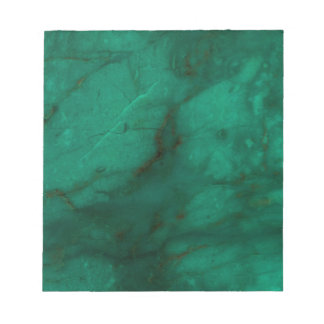 Hunter Green Marble Notepad