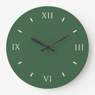 Hunter Green Modern Color Matching Large Clock