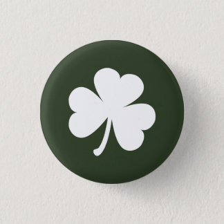 Hunter Green w/ Irish Shamrock 3 Cm Round Badge