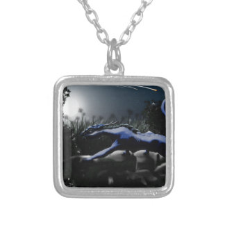 Hunter in the Night Silver Plated Necklace