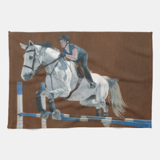 Hunter/Jumper Dapple Grey Horse Kitchen Towel