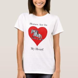 Hunter/Jumper Horse in Heart T-Shirt
