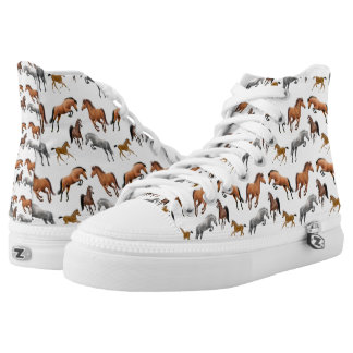Hunter Jumper Horses High Top Sneakers