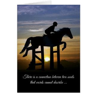 Hunter Jumper Loss of Horse Sympathy Card