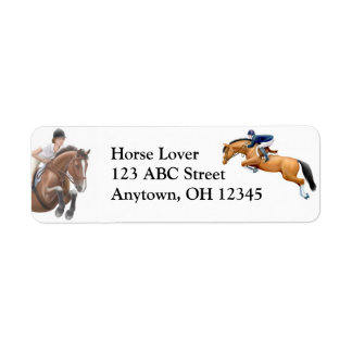Hunter Jumper Show Horse Label