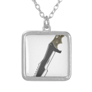 Hunter Knife Silver Plated Necklace