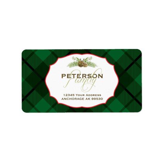 Hunter Plaid, Holiday Address Label