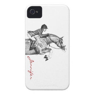 Hunter Pony Pointillism iPhone 4 Covers