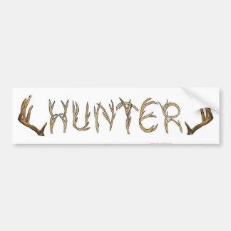 Hunter rack bumper sticker