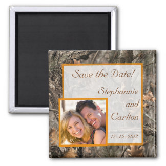 Hunter s Camo Chic Wedding Announcement Magnet