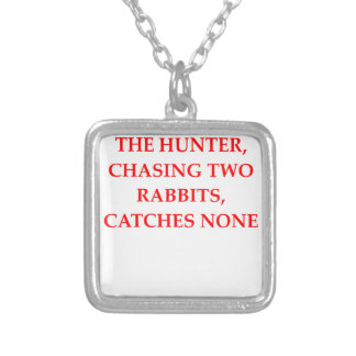 HUNTER SILVER PLATED NECKLACE