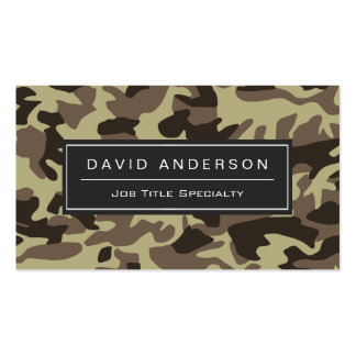 Hunter Stylish Military Camouflage Camo Pattern Business Card Template