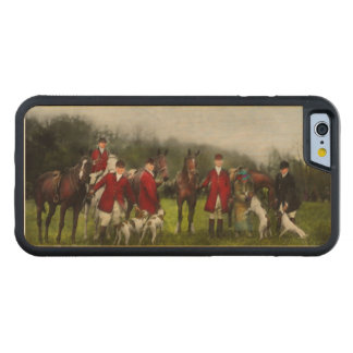 Hunter - The fox hunt - Tally-ho 1924 Carved Maple iPhone 6 Bumper Case