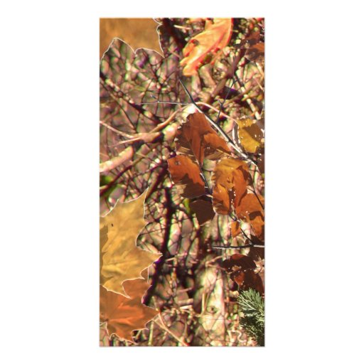 Hunter's Camo Camouflage Painting Customize This! Custom Photo Card
