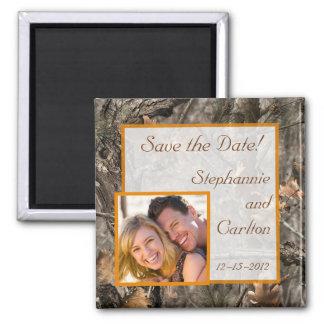 Hunter's Camo Chic Wedding Announcement Magnet