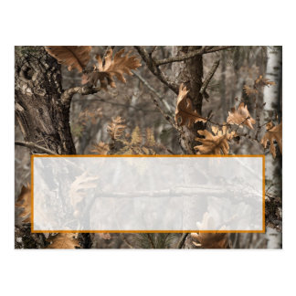 Hunter's Camo Chic Wedding Writable Place Card Postcard