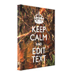 Hunters Fall Camouflage Keep Calm Your Text Canvas Prints