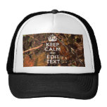 Hunters Fall Camouflage Keep Calm Your Text Cap