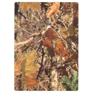 Hunter's Fall Nature Camo Camouflage Painting Clipboards