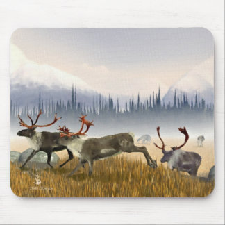 Hunters In The Mist (Caribou) Mouse Pad