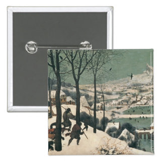 Hunters in the Snow - january, 1565 15 Cm Square Badge