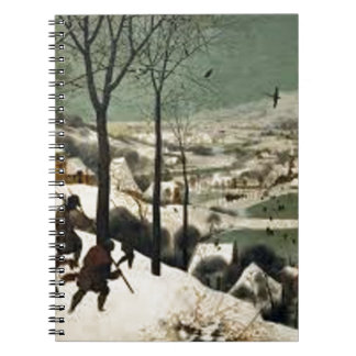 Hunters In The Winter Painting Notebook