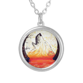 Hunter's Moon Silver Plated Necklace