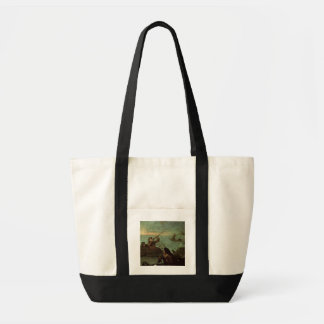 Hunters Shooting at Ducks (oil on canvas) Canvas Bags
