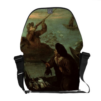 Hunters Shooting at Ducks (oil on canvas) Commuter Bag