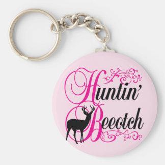 Huntin' Beeotch Key Ring