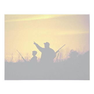 Hunting 11 Cm X 14 Cm Invitation Card